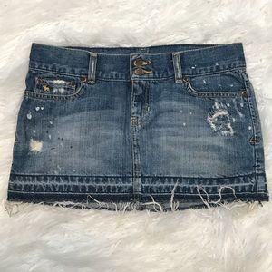 Abercrombie & Fitch Distressed Denim Skirt Size 2